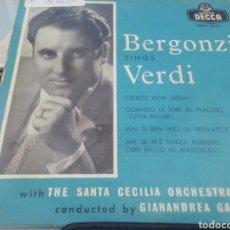 Discos de vinilo: BERGONZI CANTA VERDI. SINGLE.. Lote 209878521
