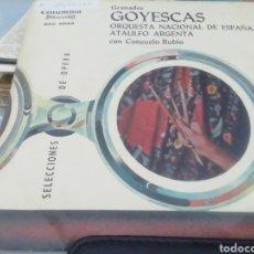 Discos de vinilo: GRANADOS. GOYESCAS. SINGLE.. Lote 209878671