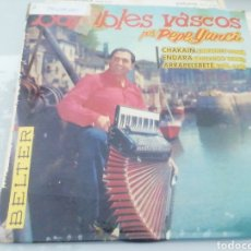 Discos de vinilo: BAILABLES VASCOS. PEPE YANCI. SINGLE.. Lote 209878767