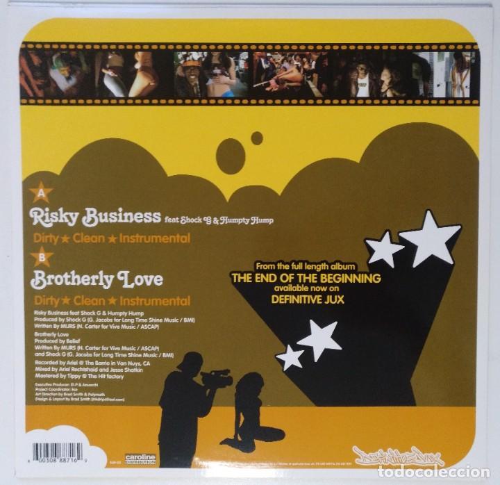"Discos de vinilo: MURS - RISKY BUSINESS / BROTHERLY [ US HIP HOP / RAP ORIGINAL EXCLUSIVO ] [[MX 12"" 45RPM]] [[2003]] - Foto 2 - 209880280"