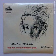Discos de vinilo: MARLENE DIETRICH – SAG MIR WO DIE BLUMEN SIND SCANDINAVIA 1963 HIS MASTER'S VOICE. Lote 209884276