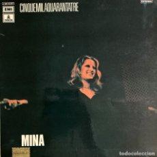 Discos de vinilo: MINA CINQUEMILAQUARANTATRE 1972 DISCO L P. Lote 209885758