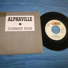 Discos de vinilo: ALPHAVILLE SUMMER RAIN SINGLE VINILO PROMO ESPAÑOL 1989 MARIAN GOLD 2 TEMAS. Lote 71202069
