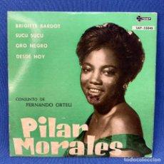 Discos de vinilo: SINGLE PILAR MORALES - BRIGITTE BARDOT - SUCU SUCU - ESPAÑA - 1961 - CARÁTULA TOCADA. Lote 209912848
