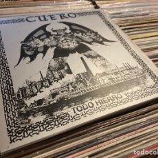 Discos de vinilo: CUERO TODO HIERRO DISCO DE VINILO MINI LP PUNK OI! BLACK METAL SKINHEADS. Lote 262373620