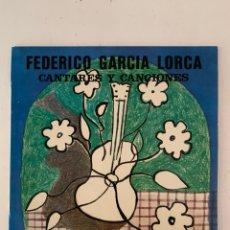 Discos de vinilo: FEDERICO GARCIA LORCA- CANTARES Y CANCIONES. Lote 209923397