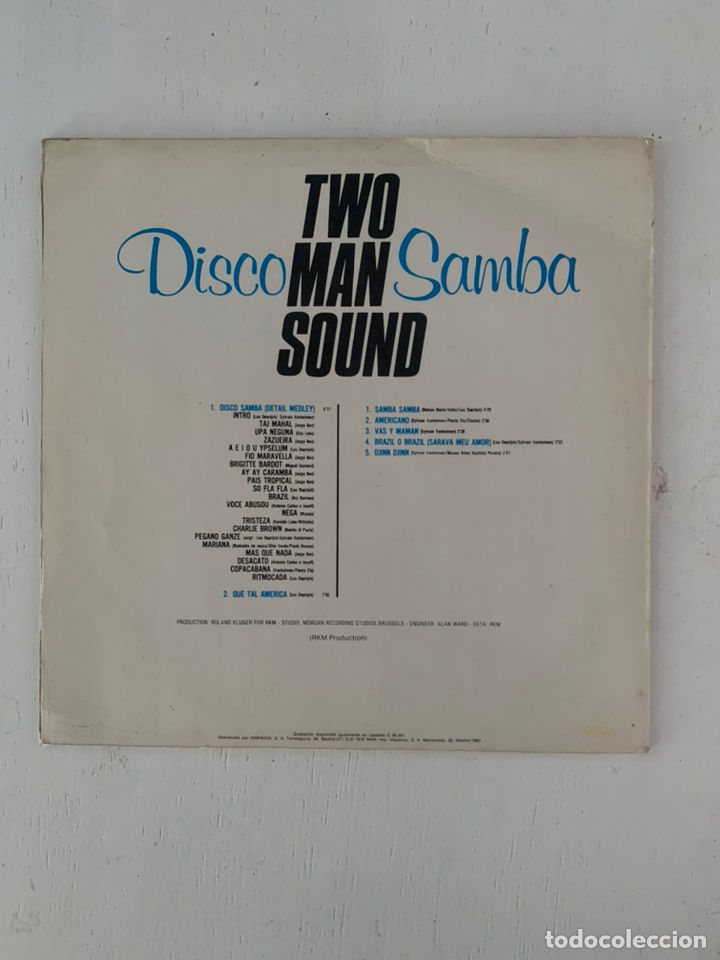 Discos de vinilo: TWO MAN SOUND- DISCO SAMBA - Foto 2 - 209923545