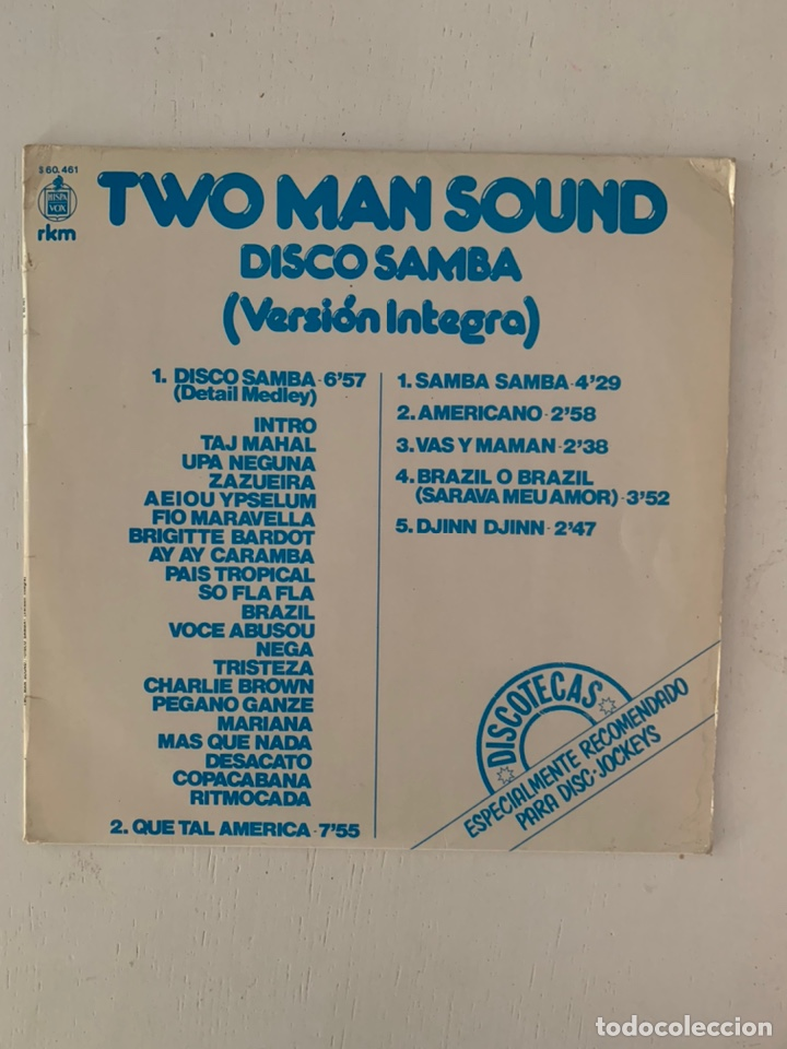 TWO MAN SOUND- DISCO SAMBA (Música - Discos - LP Vinilo - Pop - Rock - New Wave Extranjero de los 80)
