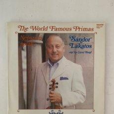 Discos de vinilo: SÁNDOR LAKATOS AND HIS GIPSY BAND – THE WORLD FAMOUS PRIMAS. Lote 209924247