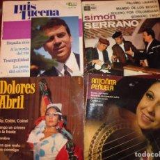 Discos de vinilo: 11 VIEJOS EP Y SINGLE COPLA,FLAMENCO,RUMBA.... VER IMAGENES, FUNDAS SOBADAS. Lote 209932335