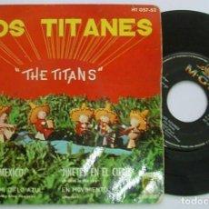 """Discos de vinilo: LOS TITANES THE TITANS 7"""" SPAIN EP 45 JINETES EN EL CIELO + 3 SINGLE VINILO 1961 SURF ROCK&ROLL RARO. Lote 209933033"""