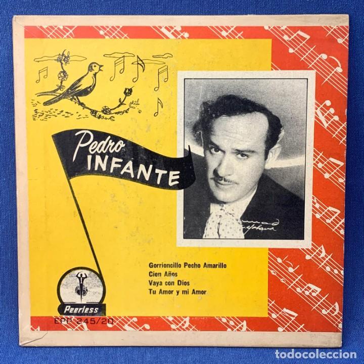 EP PEDRO INFANTE - GORRIONCILLO PECHO AMARILLO , CIEN AÑOS , VAYA CON DIOS - MÉXICO - AÑOS 1960 (Música - Discos de Vinilo - EPs - Grupos y Solistas de latinoamérica)