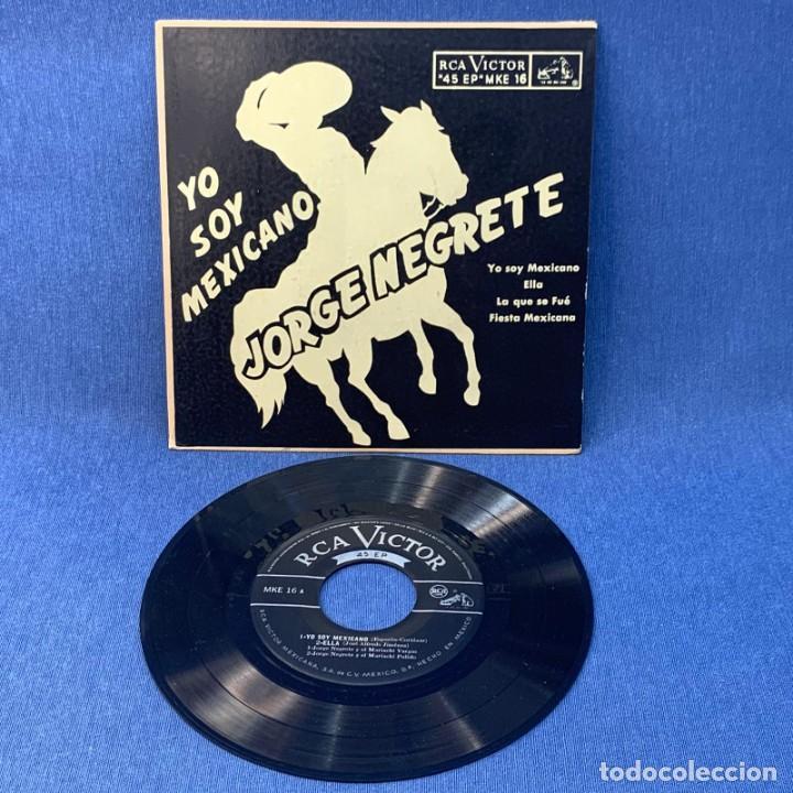 Discos de vinilo: EP JORGE NEGRETE - YO SOY MEXICANO , ELLA , LA QUE SE FUE , FIESTA MEXICANA - MÉXICO - AÑOS 1954 - Foto 2 - 209935393