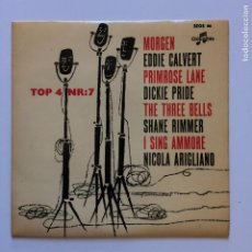 Discos de vinilo: VARIOUS – EDDIE CALVERT / DICKIE PRIDE / SHANE RIMMER / NICOLA ARIGLIANO SWEDEN 1959 COLUMBIA. Lote 209947743