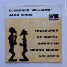 Discos de vinilo: CLARENCE WILLIAMS' JAZZ KINGS – TREASURES OF NORTH-AMERICAN NEGRO MUSIC VOLUME 3 HOLANDA 1958. Lote 209950276