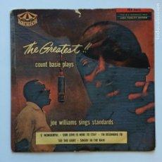 Discos de vinilo: COUNT BASIE, JOE WILLIAMS – THE GREATEST! COUNT BASIE PLAYS AND JOE WILLIAMS SINGS STANDARDS VOL.1. Lote 209957468