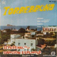 Discos de vinilo: TORREBRUNO - SESAMO / ERES DIFERENTE / VIENTO / TODO ES NUEVO EP HISPAVOX 1960 AUGUSTO ALGUERO EX++. Lote 209957650
