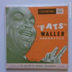 Discos de vinilo: FATS WALLER – FATS WALLER FAVORITES 2 SINGLES GERMANY RCA. Lote 209961143
