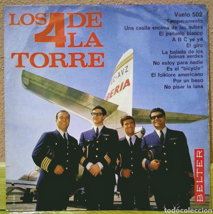 LOS 4 DE LA TORRE - VUELO 502 LP BELTER 1966 (Música - Discos - LP Vinilo - Grupos Españoles 50 y 60)