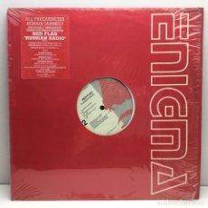 Discos de vinilo: LP - DISCO - VINILO - RED FLAG - RUSSIAN RADIO - 12 MAXI USA REMIXES - AÑO 1989. Lote 209975108