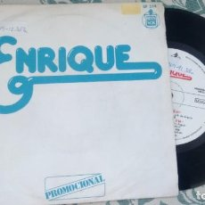 Discos de vinilo: SINGLE ( VINILO) -PROMOCION- DE ENRIQUE AÑOS 70. Lote 209985625