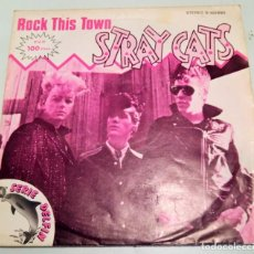 Discos de vinilo: STRAY CATS ----- ROCK THIS TOWN / CAN´T HURRY LOVE ----- (1981). Lote 210002156