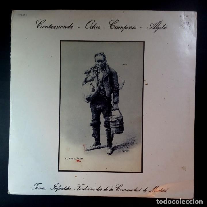 VARIOS - TEMAS INFANTILES TRADICIONALES DE LA COMUNIDAD DE MADRID - LP CON ENCARTE 1987 - SAGA (Música - Discos - LPs Vinilo - Música Infantil)