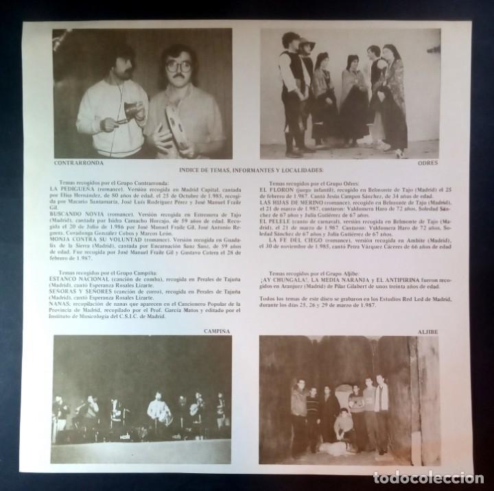 Discos de vinilo: VARIOS - temas infantiles tradicionales de la comunidad de madrid - LP CON ENCARTE 1987 - SAGA - Foto 3 - 210038626