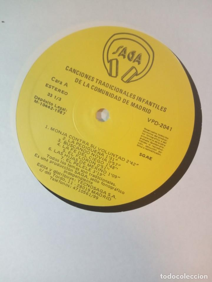 Discos de vinilo: VARIOS - temas infantiles tradicionales de la comunidad de madrid - LP CON ENCARTE 1987 - SAGA - Foto 4 - 210038626