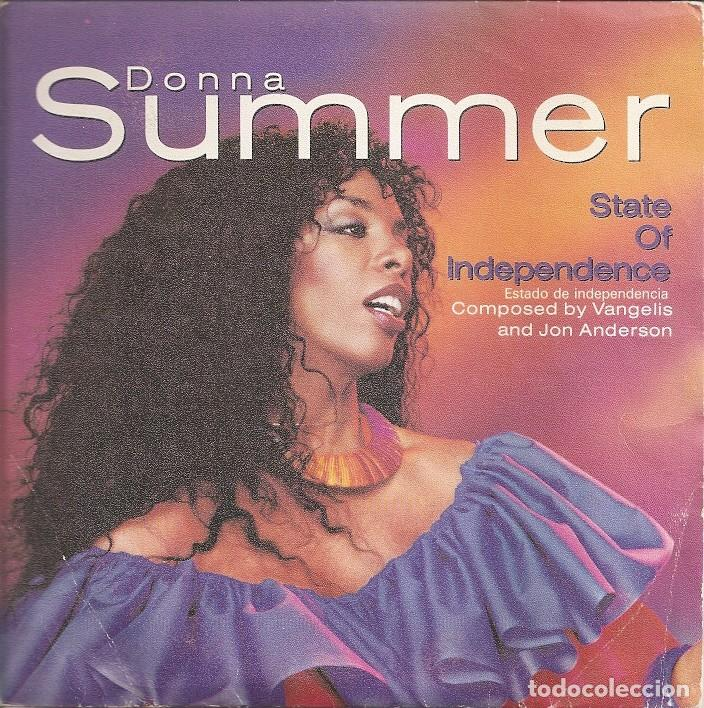 Discos de vinilo: DONNA SUMMER - STATE OF INDEPENDENCE / LOVE IS JUST A BREATH AWAY (SINGLE ESPAÑOL, WEA 1982) - Foto 1 - 210040472