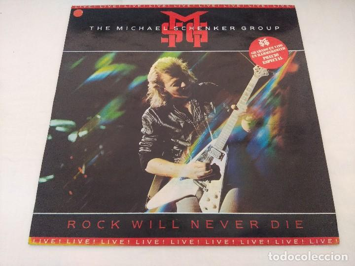 VINILO METAL/THE MICHAEL SCHENKER GROUP/ROCK WILL NEVER DIE-LIVE. (Música - Discos - LP Vinilo - Heavy - Metal)