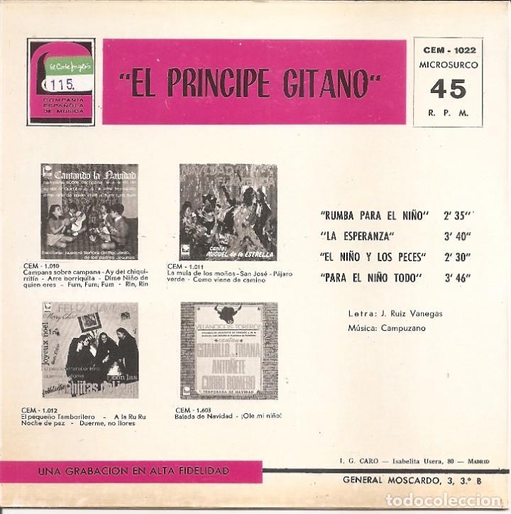 Discos de vinilo: EL PRINCIPE GITANO - VILLANCICOS (VER FOTO ADJUNTA) (EP ESAPÑOL, DISCOS CEM 1968) - Foto 2 - 210040880