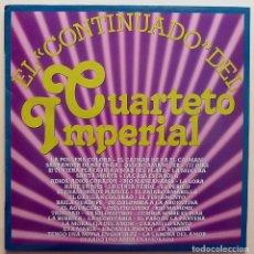 Discos de vinilo: CUARTETO IMPERIAL: EL CONTINUADO DEL CUARTETO IMPERIAL - LP - CBS - 1980 - EXCELENTE (EX). Lote 210047430