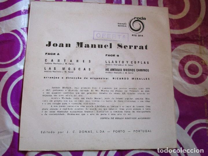 Discos de vinilo: JOAN MANUEL SERRAT Dedicado a Machado Poeta - disco de Portugal con 4 canciones - Cantares ver las - Foto 2 - 210049236