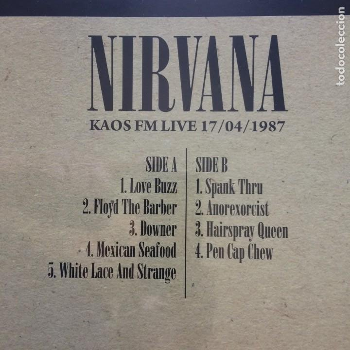 Discos de vinilo: Nirvana ?– KAOS FM Live 17/04/1987 (LIMITED 500 COPIES) EUROPE 2015 RADIO SILENCE - Foto 3 - 210049628