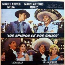 Discos de vinilo: MIGUEL ACEVES-MARCO A.MUÑIZ-LUCHA VILLA-LILIAN DE CELIS: APUROS DE 2 GALLOS -LP-RCA-1963-VG+. Lote 210053940