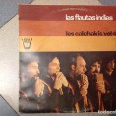 Discos de vinilo: DISCO. LAS FLAUTAS INDIAS. LOS CALCHAKIS. VOL 4. ACM. Lote 210059383
