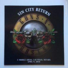 Discos de vinilo: GUNS N' ROSES ?– SIN CITY RETURN 2016. Lote 210063115