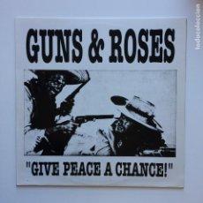 Discos de vinilo: GUNS N' ROSES – GIVE PEACE A CHANCE! GERMANY BONANZA RECORDS. Lote 210064255