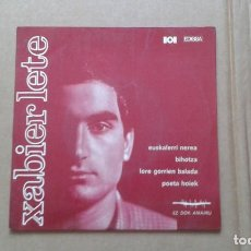 Dischi in vinile: XABIER LETE - EUSKALERRI NEREA EP 4 TEMAS 1968. Lote 210080351