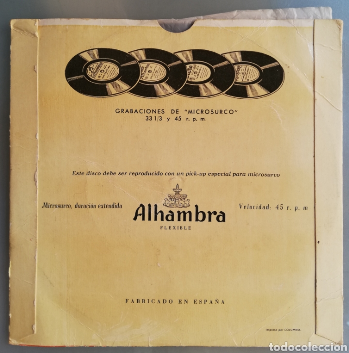 Discos de vinilo: GRUPO BALLS DE MALLORCA - AÑOS 50/60 - DISCO EP ALHAMBRA - FOLCLORE DE MALLORCA - DIR. RAFAEL JORDA - Foto 4 - 210081540