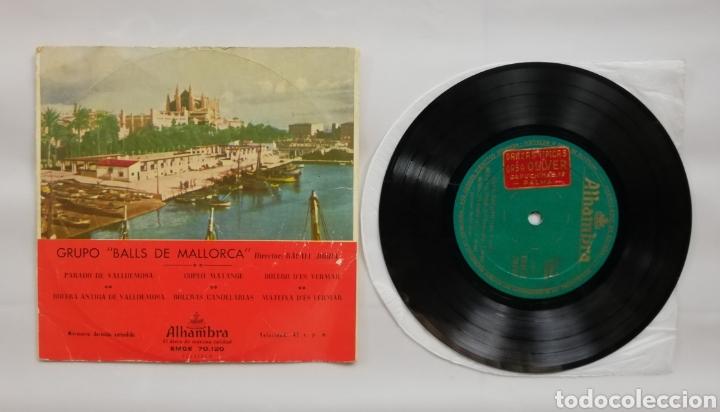 Discos de vinilo: GRUPO BALLS DE MALLORCA - AÑOS 50/60 - DISCO EP ALHAMBRA - FOLCLORE DE MALLORCA - DIR. RAFAEL JORDA - Foto 3 - 210081540