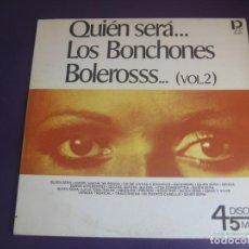 Discos de vinilo: LOS BONCHONES – QUIEN SERA... BOLEROSSS ( VOL.2 ) MAXI SINGLE PROMUS VENEZUELA 1978 - LATIN FIESTA. Lote 210084968