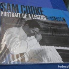 Discos de vinil: SAM COOKE PORTRAIT OF A LEGEND 2003 PRECIOSO DOBLE 1951-1964 VINILOS CORRECTOS CON SEÑALES LEVES. Lote 210085375
