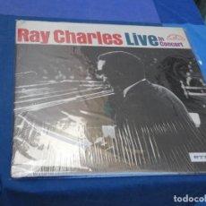 Discos de vinil: LP RAY CHARLES LIVE IN CONCERT USA 1960S BUEN ESTADO. Lote 210086960