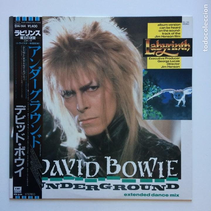 DAVID BOWIE – UNDERGROUND (EXTENDED DANCE MIX) JAPAN 1986 EMI AMERICA (Música - Discos de Vinilo - Maxi Singles - Pop - Rock - New Wave Internacional de los 80)