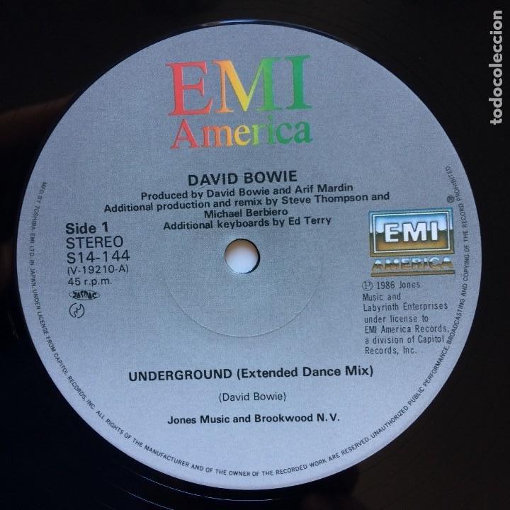 Discos de vinilo: David Bowie – Underground (Extended Dance Mix) JAPAN 1986 EMI AMERICA - Foto 4 - 210088695