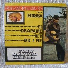 Discos de vinilo: JOAN MANUEL SERRAT - EL DRAPAIRE / ME'N VAIG A PEU - SINGLE PROMO EDIGSA DEL AÑO 1963 EXC. ESTADO. Lote 210089493