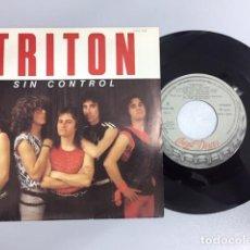 Discos de vinilo: TRITON - SIN CONTROL/SANGRE Y SUDOR (SINGLE PROMO). Lote 210093288