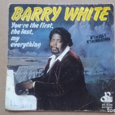 Dischi in vinile: BARRY WHITE - YOU´RE THE FIRST THE LAST MY EVERYTHING SINGLE 1974 EDICION ESPAÑOLA. Lote 210097250